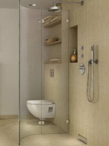 Praktischer Duschablauf fr bodengleiche Duschen in der Wand