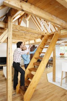Mehr Wohnraum durch Dachbodenausbau