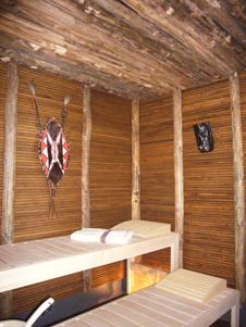 Sauna im AfrikaLook