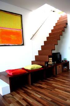 Treppe mit Stauraum