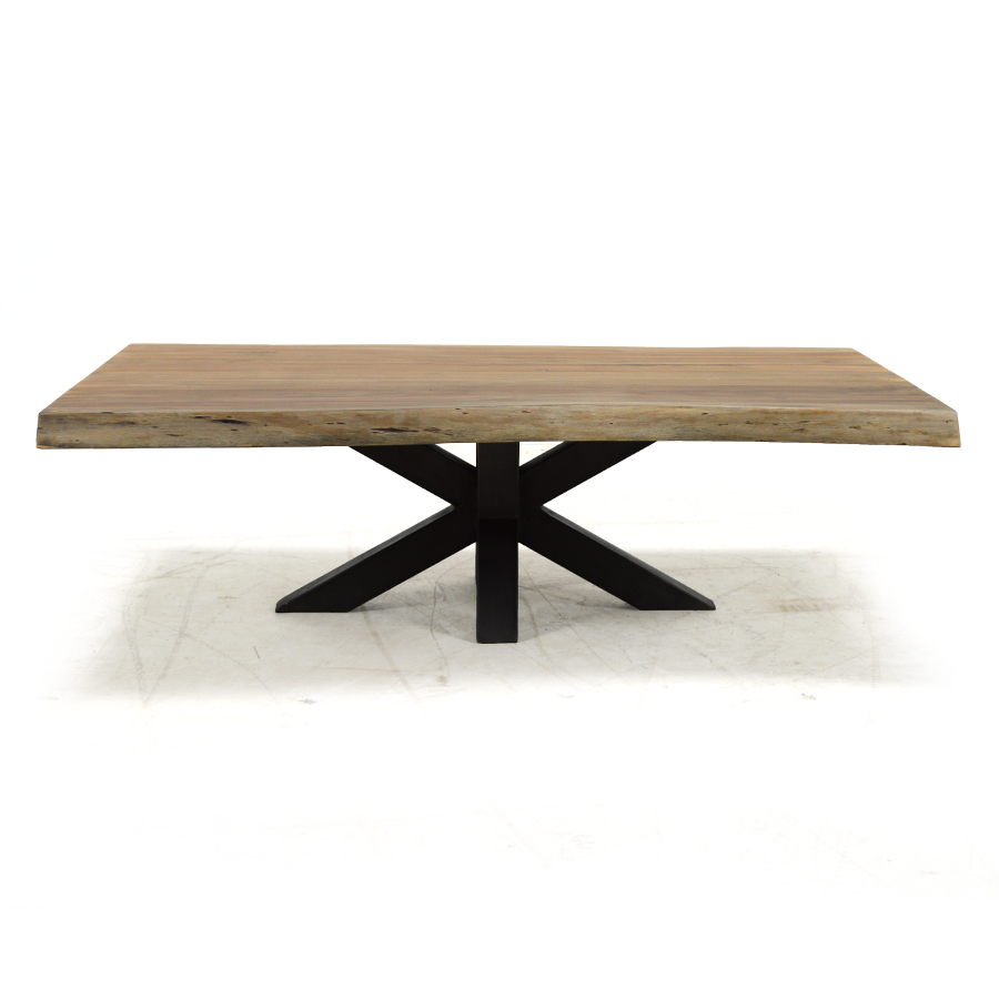 lisbon live edge coffee table salvaged natural