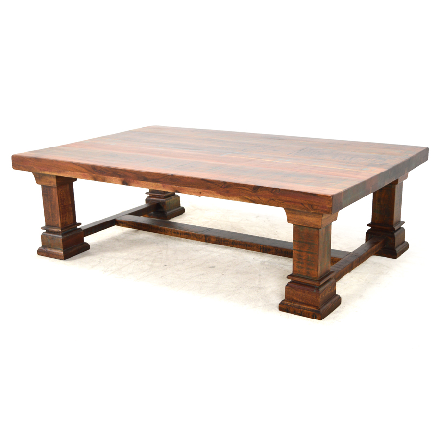 gibraltar rectangular coffee table reclaimed wood