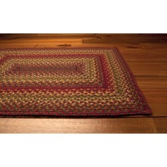 Red Kitchen Chair Pads Office Back Support Cider Barn Jute Braided Rugs