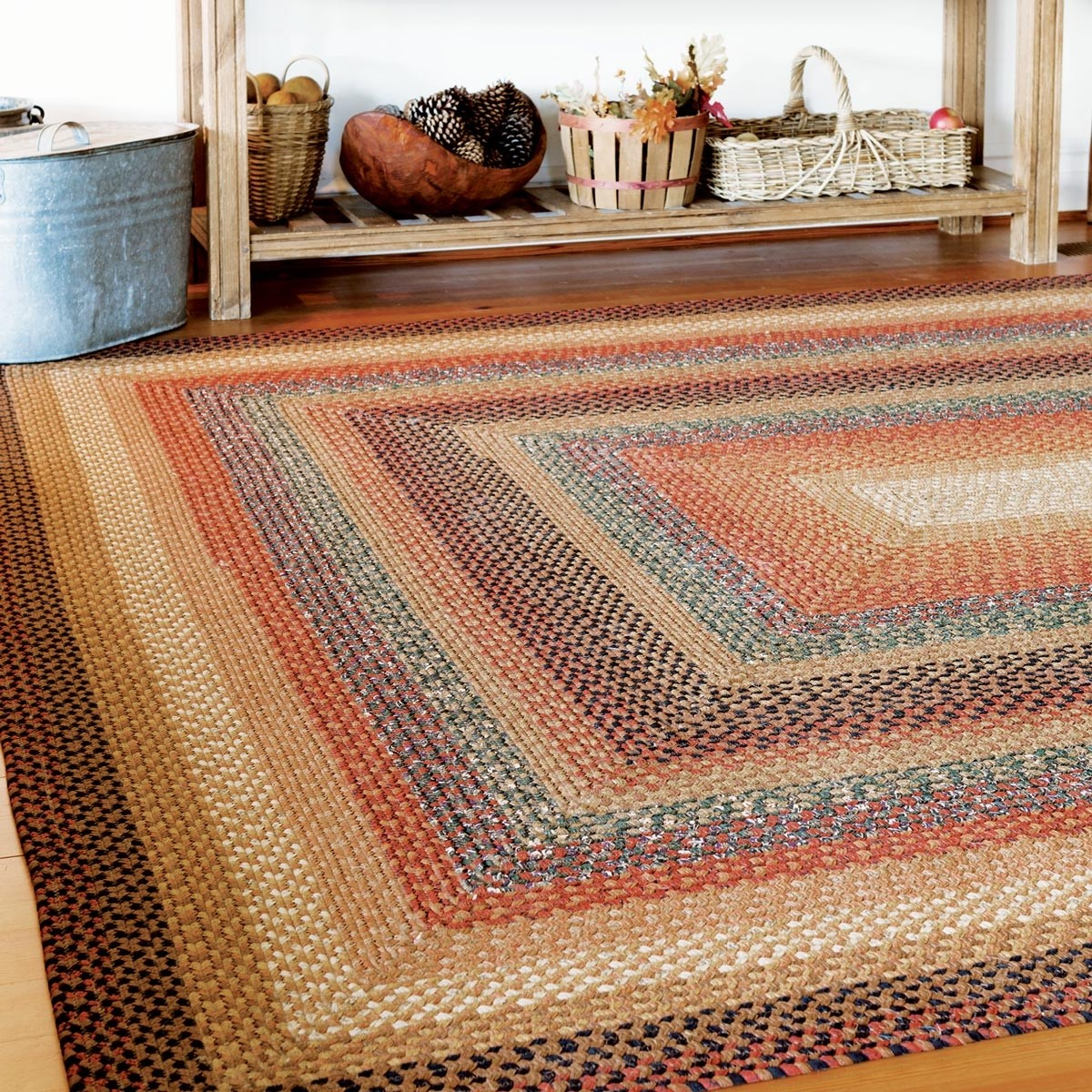 Buy Peppercorn Multi Color Cotton Braided Rugs Online Homespice