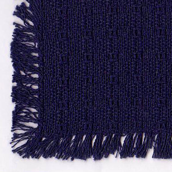 Navy Blue Homespun Tablecloths Placemats Napkins Runners