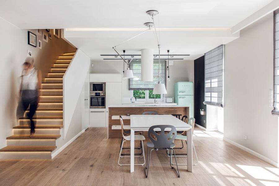 Biel w kuchni  styl nowoczesny  Inspiracja  HomeSquare