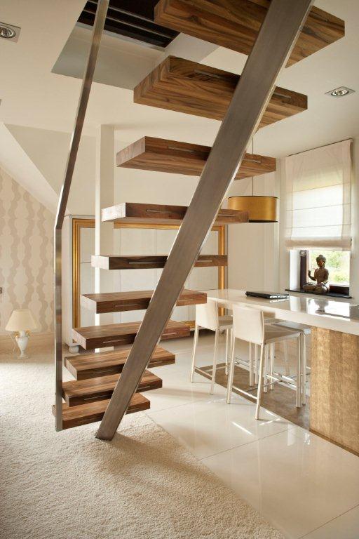 Aranacja salonu z kuchni w bieli  Inspiracja  HomeSquare