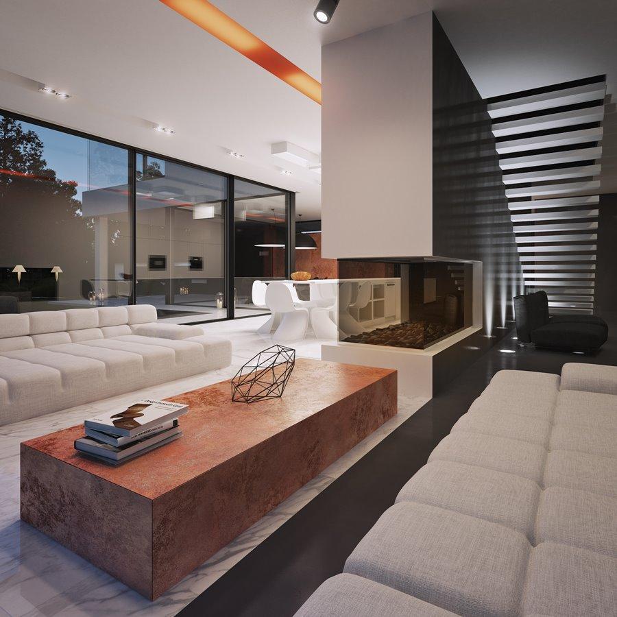 chair design for home fabrics chairs striped ekskluzywny salon otwarty na kuchnię i jadalnię - inspiracja homesquare