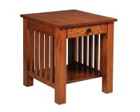 Mission End Table with Drawer - HomeSquare Furniture