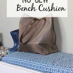 Diy Chair Cushion No Sew Posture Seat For Car Bench Sewing Required Homestead 128