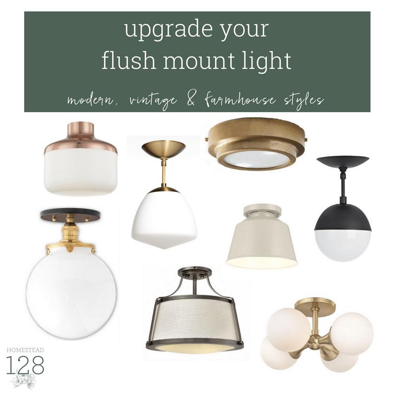 15 trendy flushmount lights for a