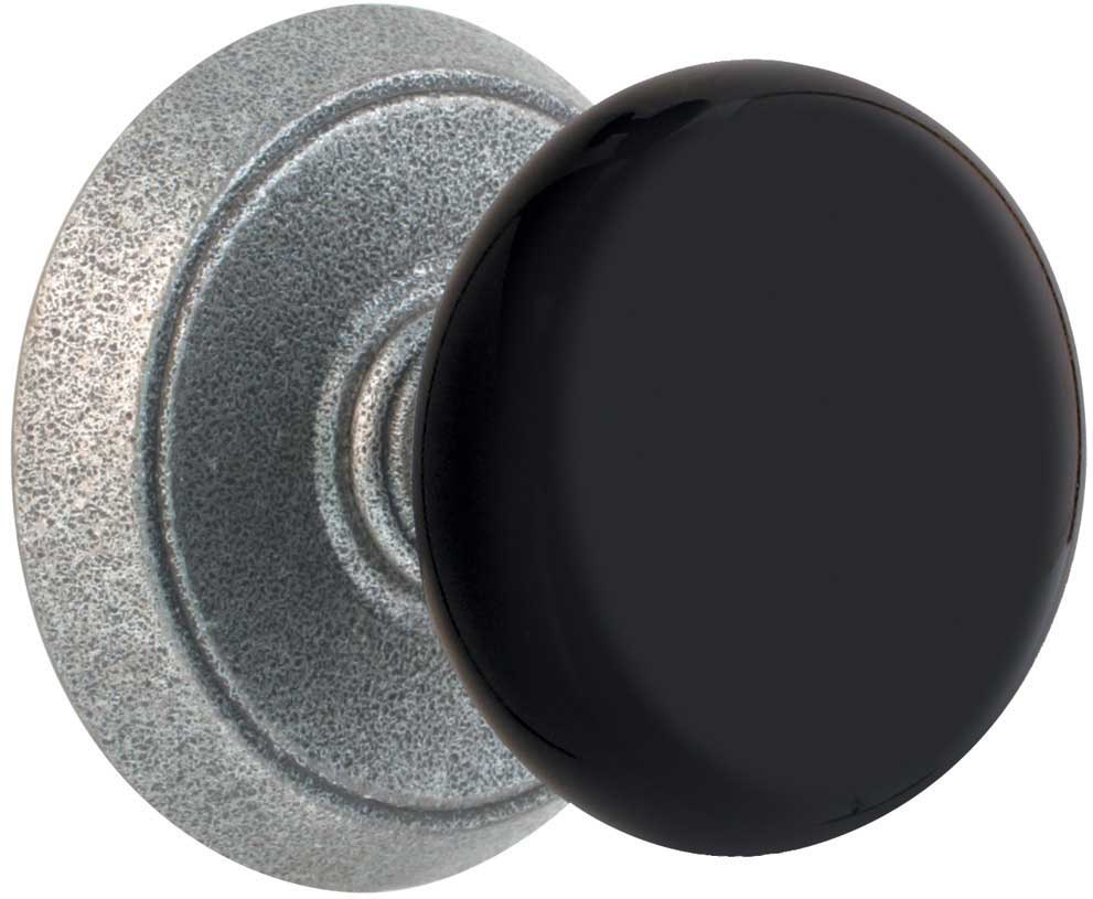 Emtek Black Madison Wrought Steel Door Knob