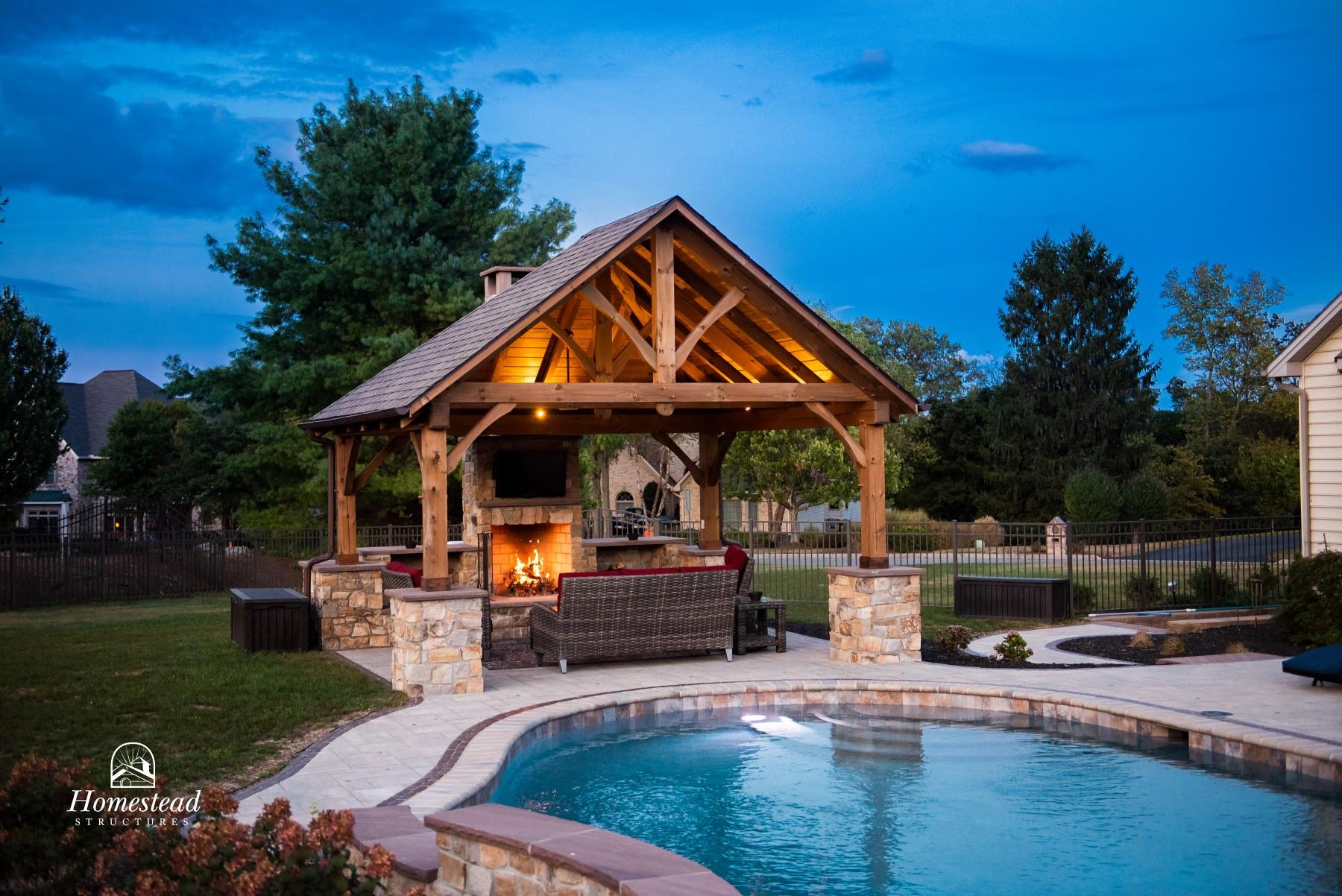 wooden pavilions timber frame