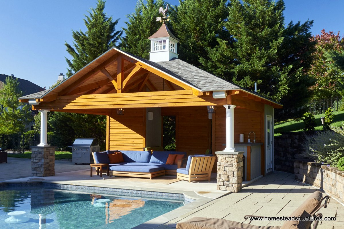 Custom Pool House Plans  Ideas  Pool Cabanas in New Holland PA  Homestead Structures