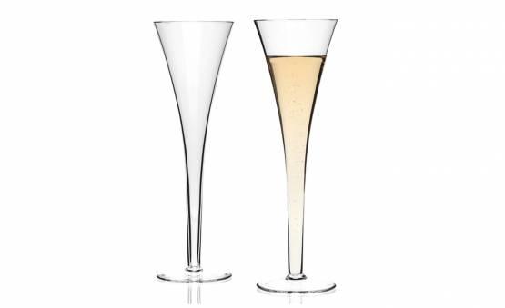 2 CHAMPAGNE GLASSES NIZZA, LeONARDO