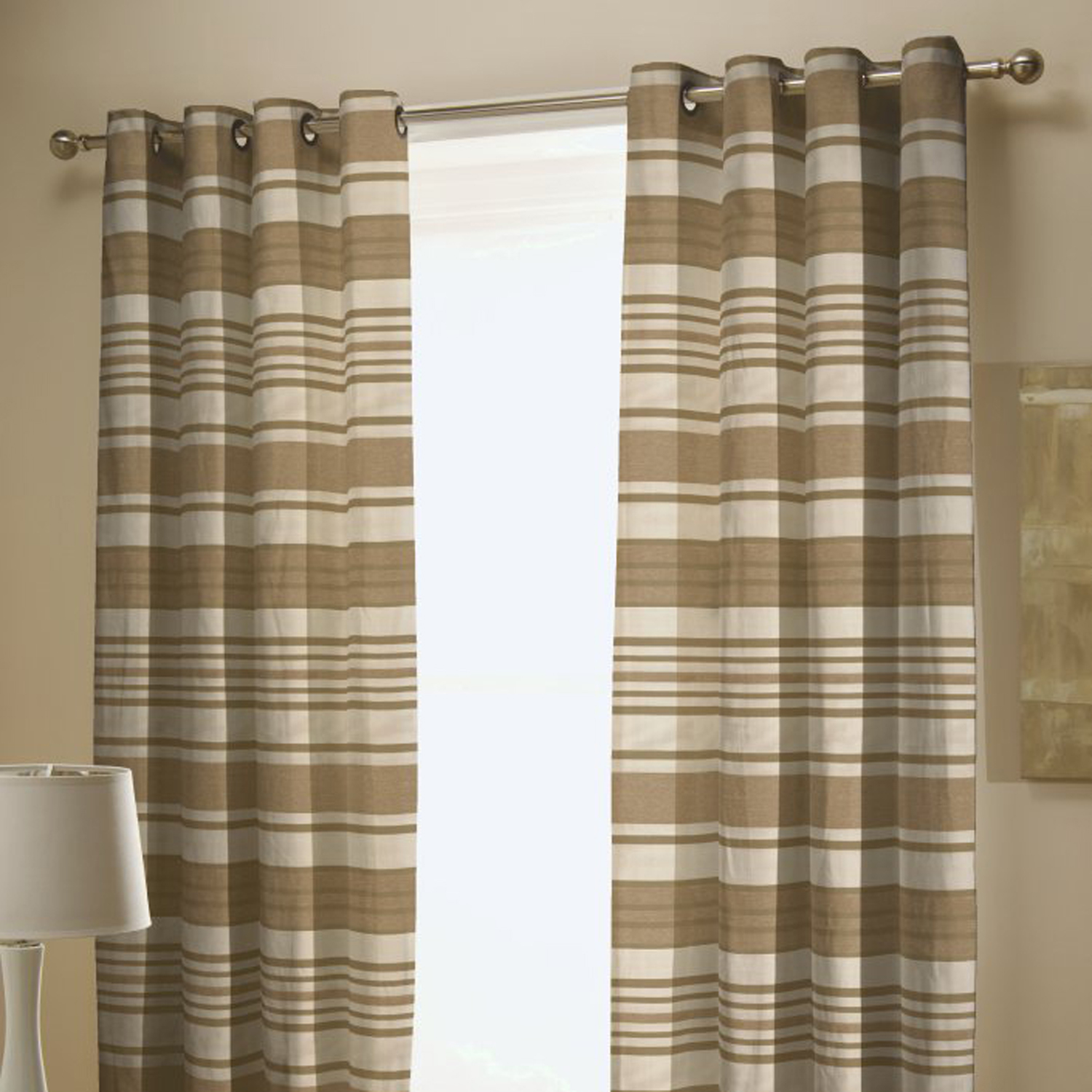 Chenille Stripe Curtains  Home Store  More