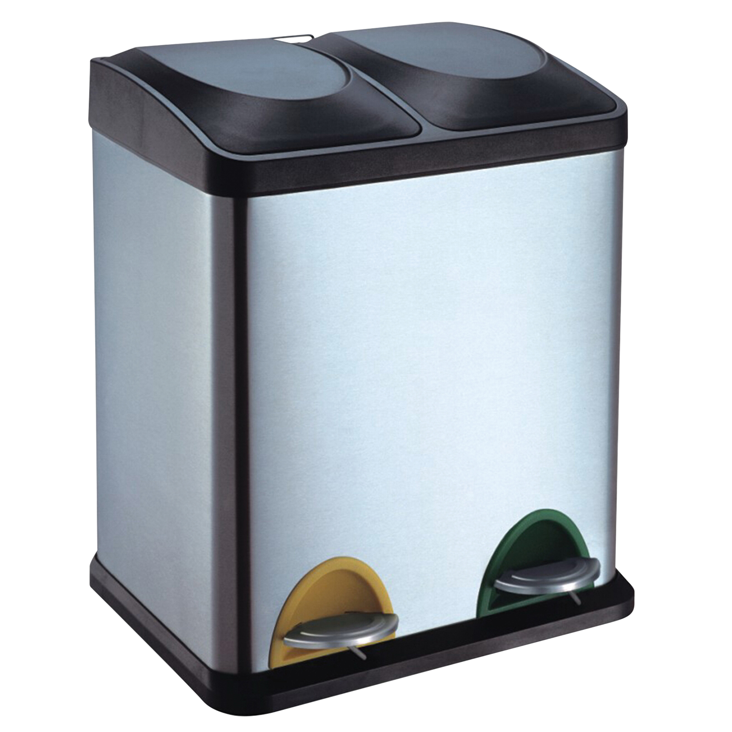 small recycling bins for kitchen 36 inch cabinets double bin 30 litre home store more images