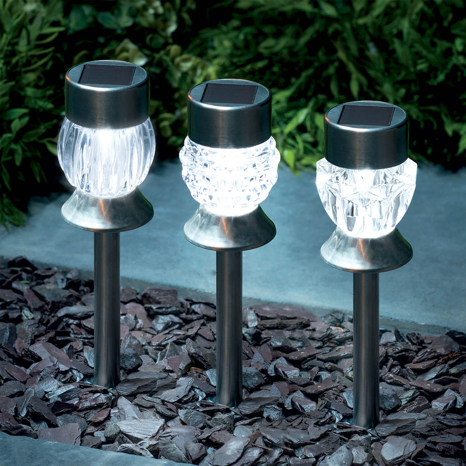 Crystal Acrylic SS Solar Stake Light  Home Store  More