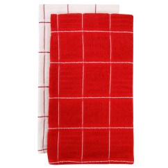 Kitchen Tea Towels Pegasus Faucets Check Towel 2 Pack Red Home Store 43 More