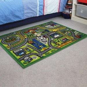 Car Play Mat Road Design in childrens room