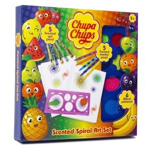 Chupa Chups Spirograph Art Set in box, coloured pens and spirographs