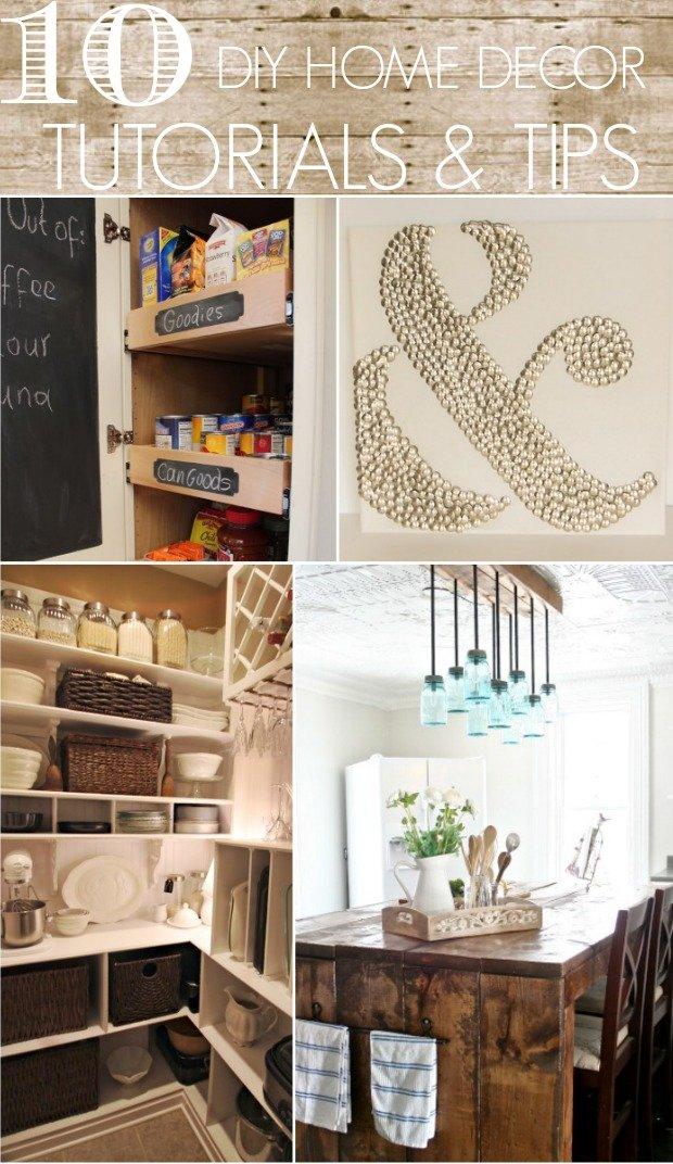 10 DIY Home Decor Tutorials  Tips