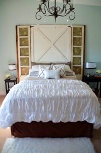 Barn Door Headboard {Master Bedroom Reveal}