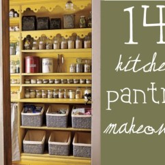 Kitchen Pantries Cutting Board Countertop 14 Inspirational Pantry Makeovers