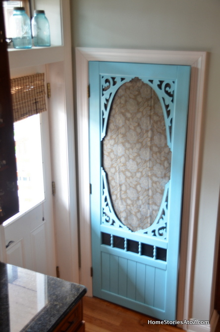 White Painted Kitchen Island Amp Pantry Screen Door 100