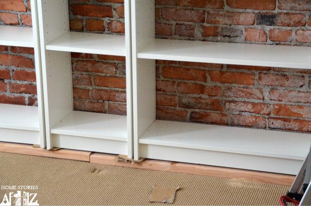 Ikea Hack Billy Built In Bookshelves Part 1 Home