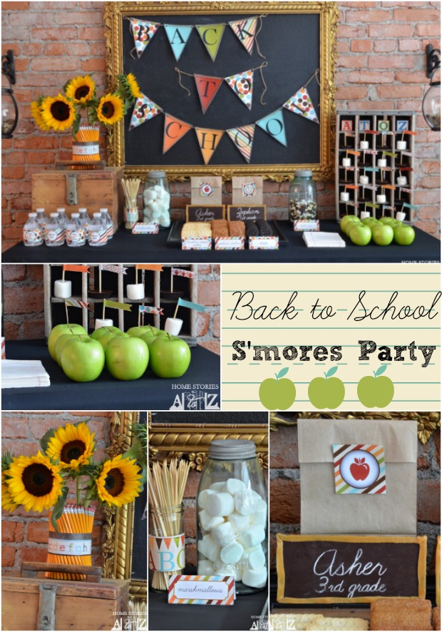 Back To School Party S Is For S'mores Home Stories A To Z