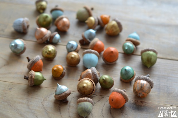 how to paint acorns for fall