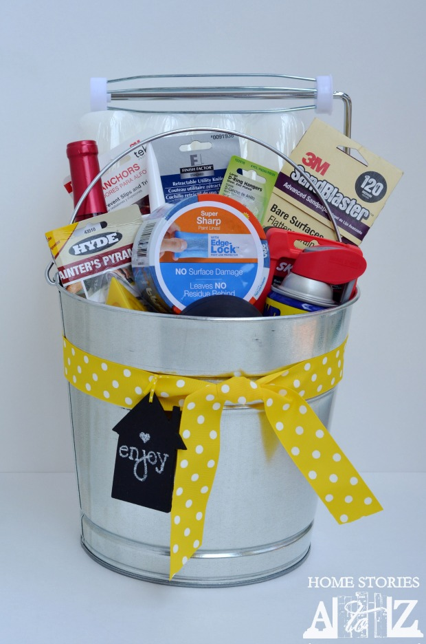 Housewarming Bucket Gift Idea Home Stories A To Z