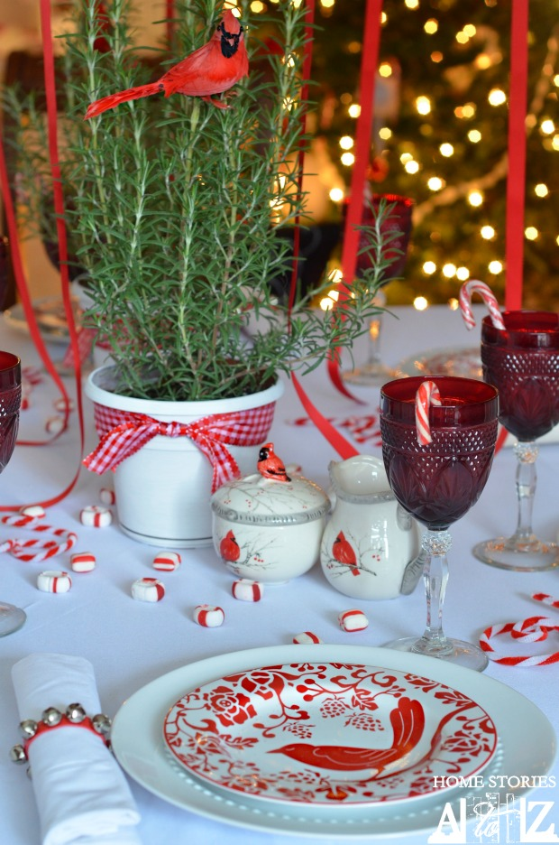 Candy Cane Christmas Table Setting