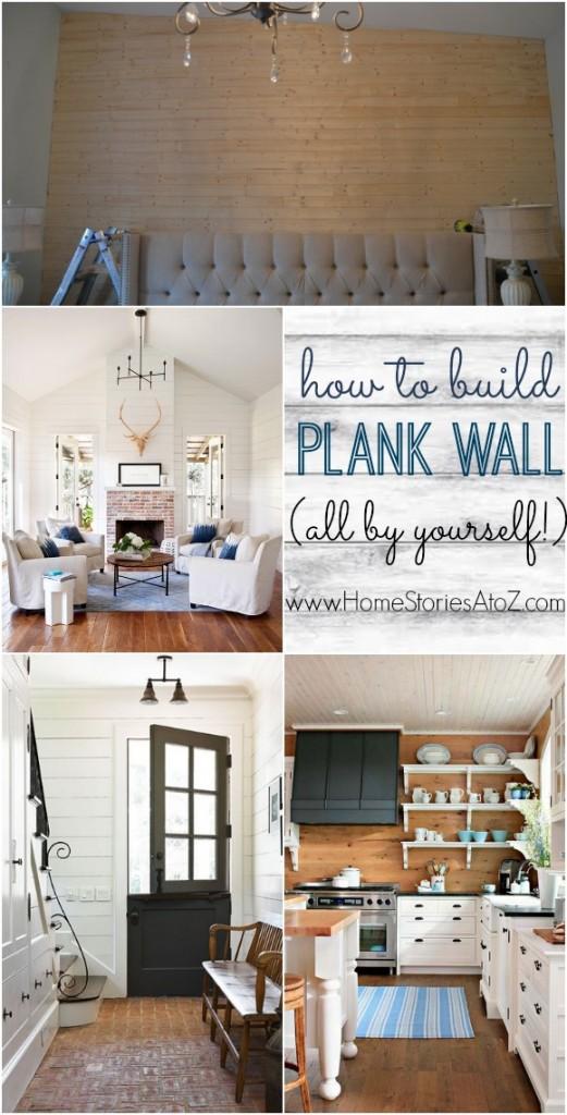 DIY Plank Wall