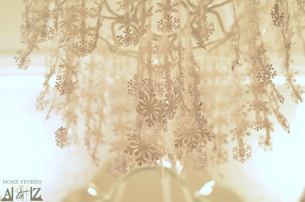 Paper Snowflake Chandelier