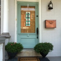 DIY Address Plaque: Paint Stick Art - Home Stories A to Z