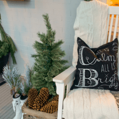 Target White Rocking Chair Patio Deck Cushions Christmas Porch Decorating Ideas