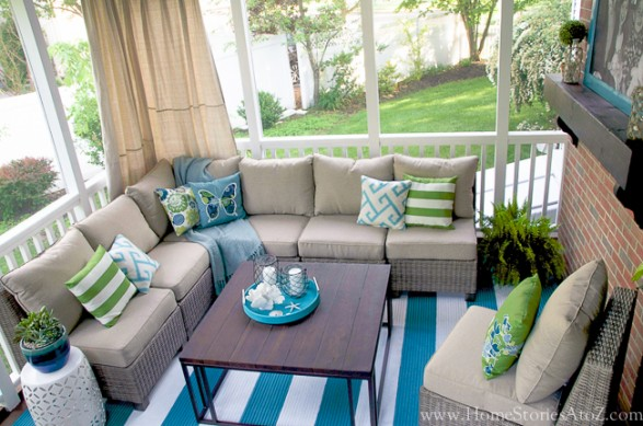 Lowes Screen Porch and Deck Makeover Reveal