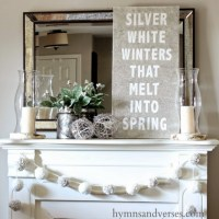 Winter Mantel and Shelf Decorating Ideas