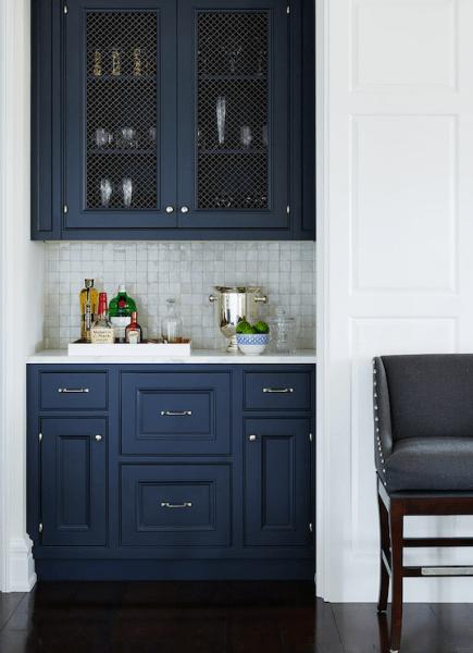 dark navy blue kitchen walls 23 Gorgeous Blue Kitchen Cabinet Ideas