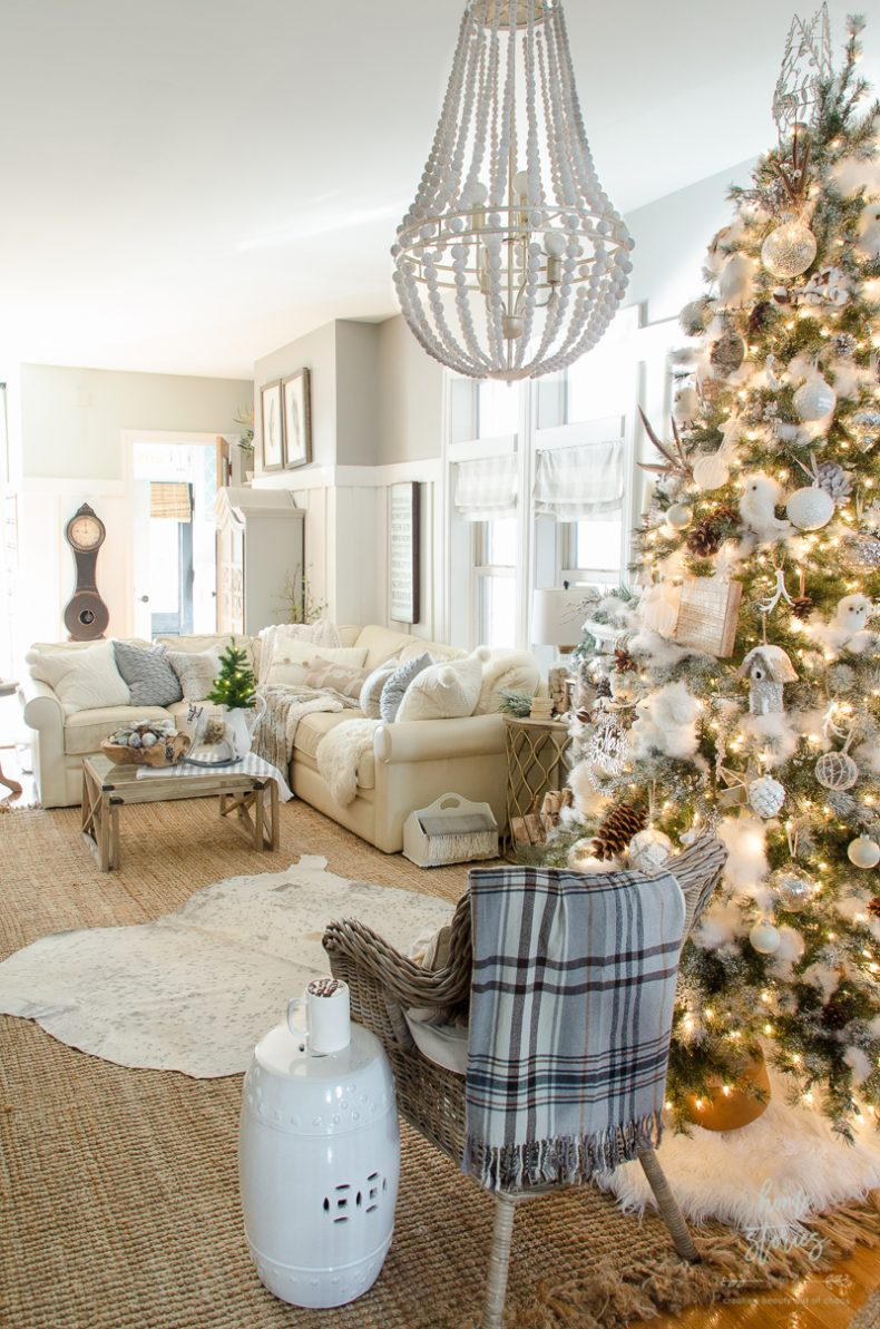 farmhouse glam living room tv stand ideas for dream tree 10 tips on how to decorate a christmas rustic