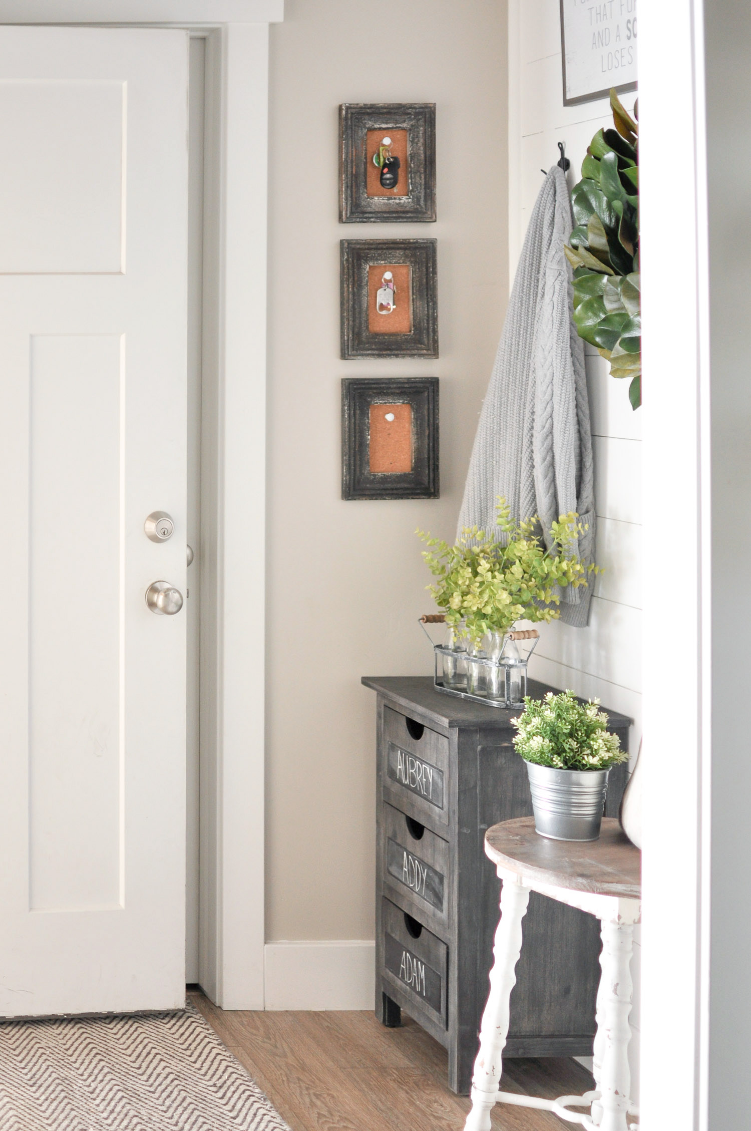 2 small mudroom makeover idea by cherished bliss