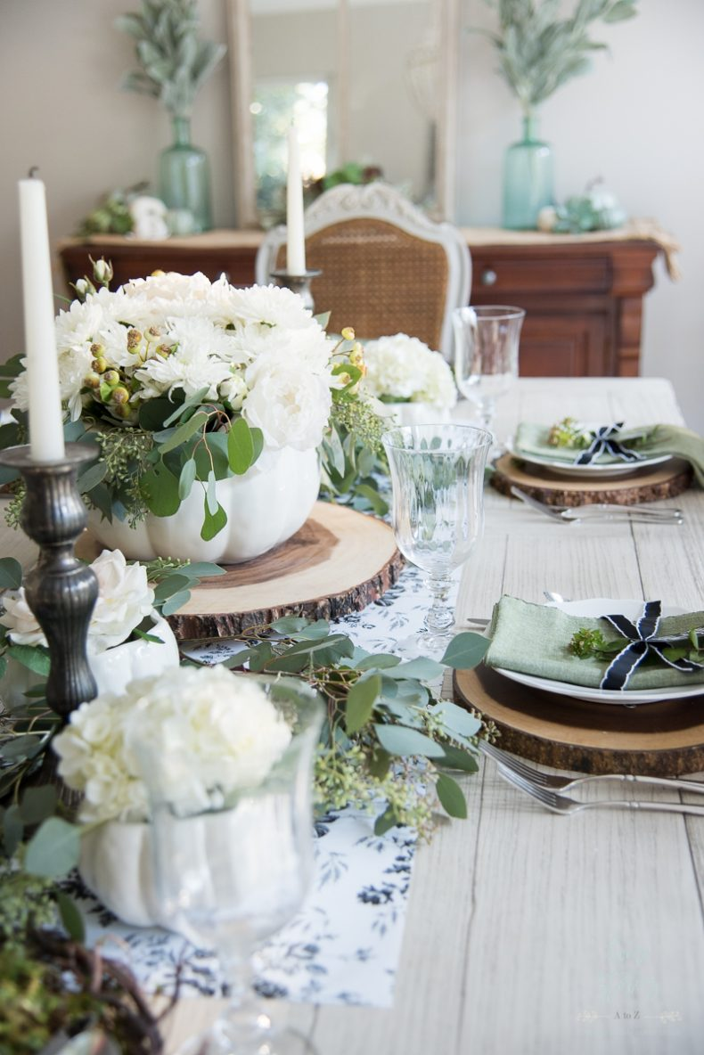 Wallpaper Fall Farmhouse Elegant Black White And Green Farmhouse Table Setting