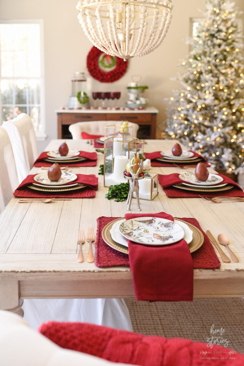 How To Set An Informal Table 12 Days Of Christmas Table
