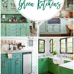 Green Kitchen Cabinets Island Ideas 20 Gorgeous Cabinet
