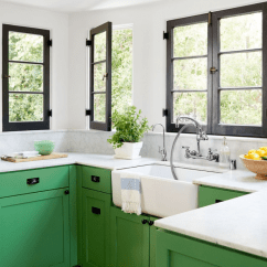 Green Kitchen Cabinets Little Bakers 20 Gorgeous Cabinet Ideas Image Source House Beautiful