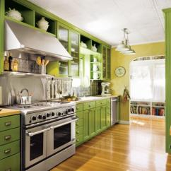 Green Kitchen Cabinets Epoxy Commercial Flooring 20 Gorgeous Cabinet Ideas Image Source Coastal Living