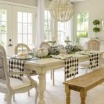 Beautiful Black White Buffalo Check Farmhouse Fall Table Setting Tips