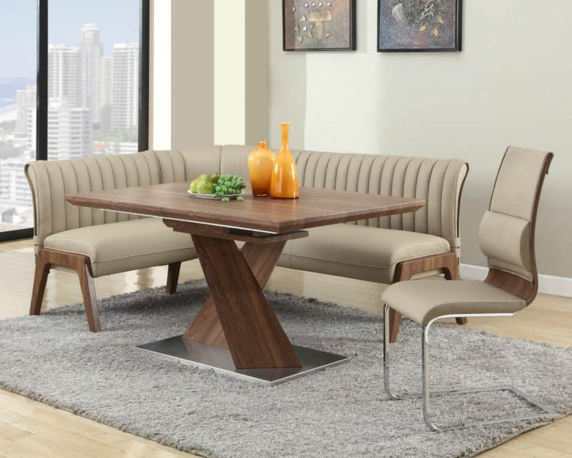 kitchen table and chairs set with booth oak rocking wow 30 space saving corner breakfast nook furniture sets 2019 5hay contemporary large dining